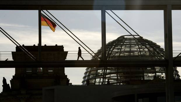 The Reichstag bulding, the seat of the German lower house of parliament, is shown in Berlin.