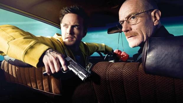 Bryan Cranston plays a meth-cooking chemist in Breaking Bad.