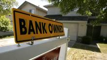 A foreclosed home is shown in Stockton, California. (ROBERT GALBRAITH/REUTERS)
