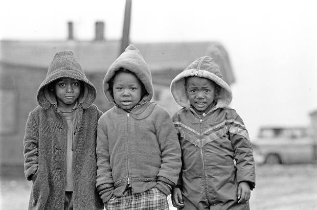 In June 1967, Globe photographer Erik Christensen travelled coast to coast for a special Centennial year examination of Canada's Capitals. In Halifax, the children of Africville pose for a picture.