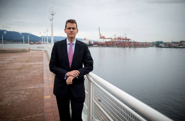 Robin Silvester, chief executive officer of Port Metro Vancouver , is seen outside his office on Sept. 24, 2015.