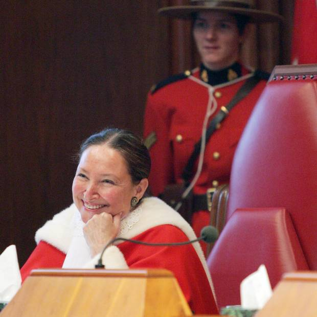Rosalie Silberman Abella smiles after being sworn in as a Supreme Court Judge during a ceremony in Ottawa on Oct. 4, 2004.