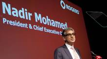 Rogers CEO Nadir Mohamed reiterated the company's desire to eventually acquire that undeployed spectrum to feed growing consumer demand for high-speed wireless services in lucrative western markets. (Tim Fraser For The Globe and Mail)