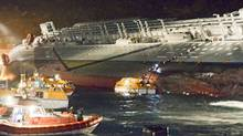An image of the Costa Concordia taken Jan. 13, 2012. (Corriere Fiorentino / AP)