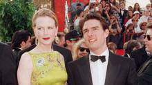 Tom Cruise and Nicole Kidman, at the 69th annual Academy Awards, March, 1997. The couple would later divorce. (Fred Prouser/REUTERS)