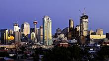 The Calgary skyline. (Chris Bolin/CHRIS BOLIN / FOR THE GLOBE AND)