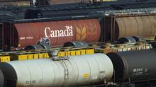 Rail cars sit at a Canadian National Railway yard in Hamilton. Shipping crude across North America in railway cars is a booming business for North America's railways. (ANDREW WALLACE/REUTERS)