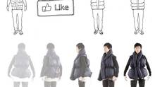 "A vest that inflates when people ""like"" something you've posted on Facebook."