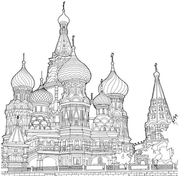 Saint Basils Cathedral In Moscow Is Recreated By Illustrator And Avid Traveller Steve McDonald Fantastic