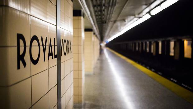 Toronto, Ontario - July 20, 2017 -- -- The Royal York subway stop is seen in Toronto, Thursday July 20, 2017.