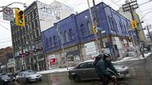 The former home of the Big Bop night club at the South East corner of Queen and Bathurst Street is photographed in Toronto, Ont. February 25, 2011. (Kevin Van Paassen/The Globe and Mail/Kevin Van Paassen/The Globe and Mail)