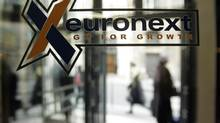 View of the Euronext Paris headquarters in a March 15, 2006 file photo. (CHRISTOPHE ENA/AP)