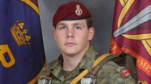 Master Corporal Byron Greff from the 3rd Battalion Princess Patricia's Canadian Light Infantry, based in Edmonton, Alberta, is shown this undated handout photo. (The Canadian Press/The Canadian Press)