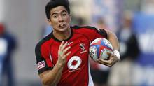 Sean Duke was named to the Canadian rugby sevens team this week. (Isaac Brekken/The Associated Press)