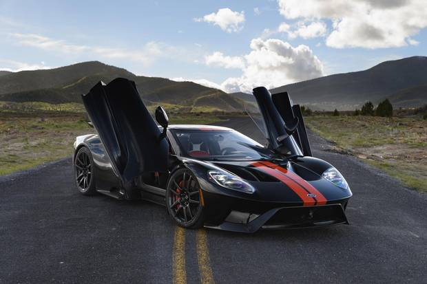 The Ford GT is powered by a twin-turbocharged 3.5-litre V-6.
