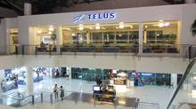 A Telus call centre in a Manila mall. Telus and its rivals Rogers and Bell are relying on the booming wireless market to drive growth, offsetting the slowing or declining performance of older land-line services, including home phone connections and regular TV service. (Andy Hoffman/The Globe and Mail/Andy Hoffman/The Globe and Mail)