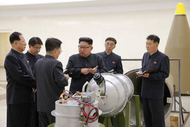 On Sept. 3, North Korea's state news agency released this undated photo of Mr. Kim giving guidance on a nuclear-weapons program, as Pyongyang announced what it claimed was its biggest nuclear test to date. South Korean officials estimated at the time that the underground detonation was 50 kilotons, or the equivalent of 50,000 tons of TNT, but another analysis by the U.S. think tank 38 North. Either way, the result would be devastating if, as a last resort, the North Koreans targeted the South.
