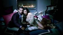 Kourtney Kardashian and partner Scott Disick (Timothy White/E! Entertainment)