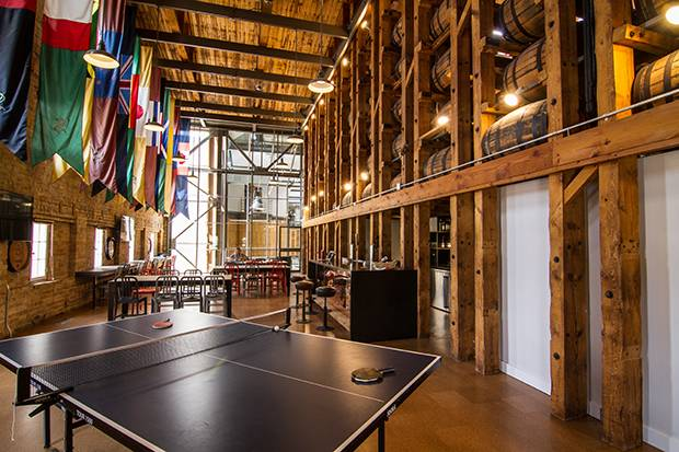 The Waterloo features a lounge with ping-pong and video games.