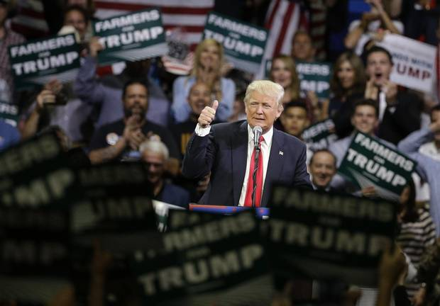 Donald Trump rally in Fresno, California, in May.