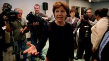 B.C. Premier Christy Clark arrives for a candidate caucus meeting in Vancouver, B.C., on Thursday May 23, 2013, after winning a majority in the provincial election earlier this month. (Darryl Dyck/The Canadian Press)