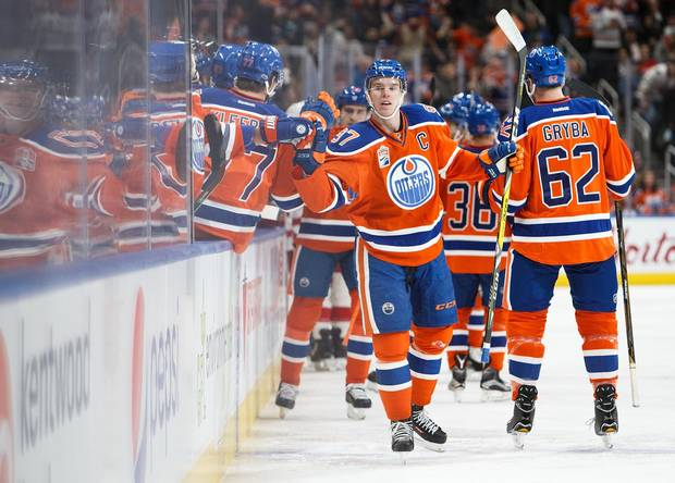 It's not a coincidence that McDavid's linemates Leon Draisaitl and Patrick Maroon are having career years.