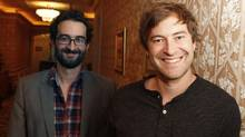 Directors Jay (left) and Mark Duplass at the Royal York Hotel in Toronto on Sept. 14, 2011. (Fernando Morales/The Globe and Mail)