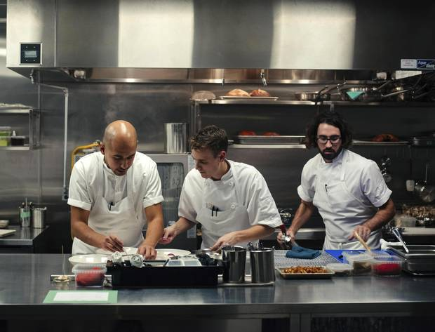 Chefs Daniel Hadida, Matt Mason and Eric Robertson at the Restaurant at Pearl Morissette.