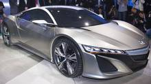 The all-new Acura NSX concept, which debuted at the 2012 North American International Auto Show in Detroit. (Honda/Wieck)