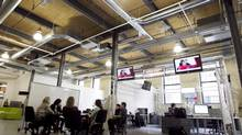 The old tannery building in the heart of Waterloo still looks like a weather-worn industrial site, but is packed with dozens of startups. (Peter Power/The Globe and Mail)
