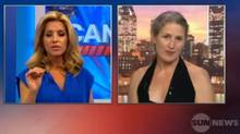 Sun News host Kirsta Erickson interviews interpretive dancer Margie Gillis on June 1, 2011. (YouTube)