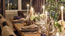 An elegant Christmas dinner table designed by Lindsay Guenter of Kelly Deck Design for a home in West Vancouver. (Barry Calhoun/Photos by Barry Calhoun)