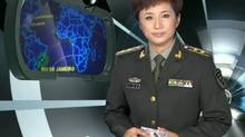 Screenshot from Chinese military television program called The Internet Storm is Here