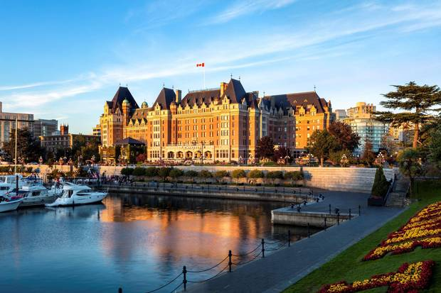 The Fairmont Empress Victoria.