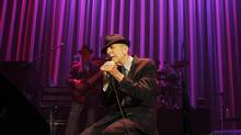 Leonard Cohen performs at the Air Canada Centre in Toronto on Dec. 4, 2012. (Peter Power/The Globe and Mail)