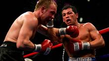 Arturo Gatti hits Thomas Damgaard during their IBA Welterweight Championship fight at Caesars Atlantic City on January 28, 2006 in Atlantic City, N.J. (Al Bello/2006 Getty Images)