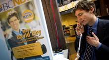 Point Grey by-election candidate David Eby workers the phone on election day at his campaign office in Vancouver on May 11, 2011. (John Lehmann/The Globe and Mail)