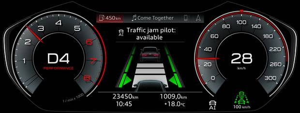 Traffic jam pilot: available