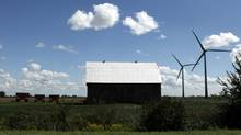A wind farm in Chatham-Kent near Mitchells Bay, Ont. (Brent Foster For The Globe and Mail)