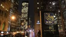 Sign for the Royal Bank of Canada at 20 King St. West in downtown Toronto on March 12, 2013. (Fred Lum/The Globe and Mail)