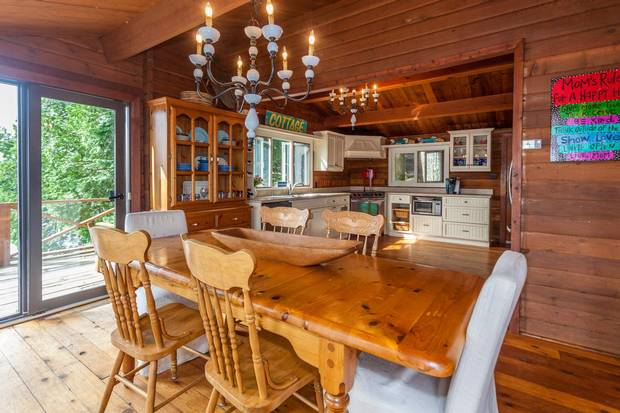 The open layout of the original cottage makes it ideal for entertaining.