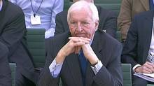 A video grab image shows Barclays chairman David Walker giving evidence to a Parliamentary Commission on Banking Standards, in London, Feb. 5, 2013. (REUTERS TV/REUTERS)