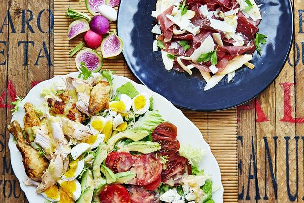 Cobb Salad and Bresola Carpaccio by Lucy Waverman.