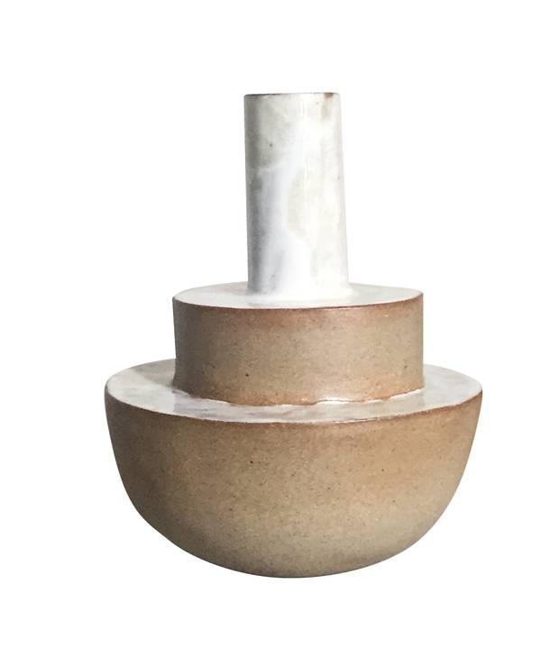 Medium three-tiered vase by Lucy Pelletier, $98 at Lucy Pelletier Art & Object (lucypelletier.ca).