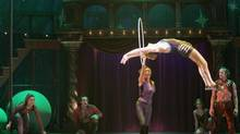 Pippin in Boston: Patina holds hoop. (Michael J. Lutch)