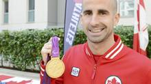 Benoit Huot at the Medal Recognition Event in the Athletes Village at the London 2012 Paralympic Games. (Matthew Murnaghan)