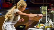 Kaila Klassen prepares her dish in an episode of MasterChef Canada in this undated handout photo. (Mark O'Neill/Bell Media)