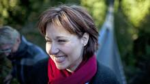 Christy Clark tours the Capilano Suspension Bridge while campaigning for the B.C. Liberal leadership in North Vancouver on Feb. 18, 2011. (Rafal Gerszak/Rafal Gerszak for The Globe and)