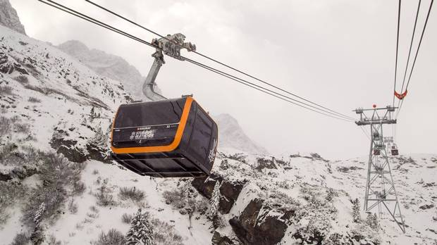 The 3S Eisgratbahn is the fastest and longest lift of its kind in the Alps.