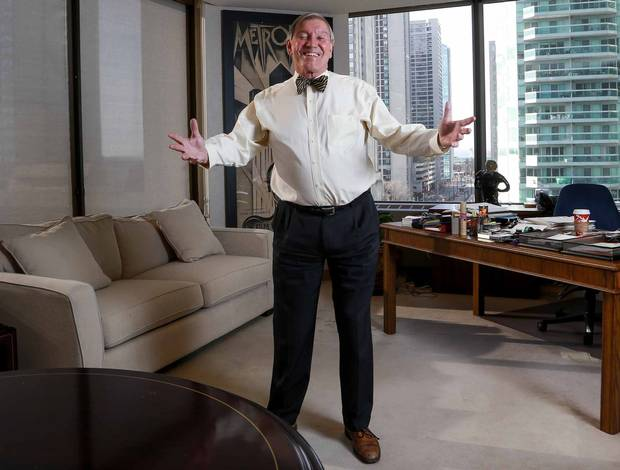Torstar chairman John Honderich is shown in his office at One Yonge Street on Nov. 28, 2016.